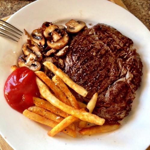 Steak and Mushrooms  photo