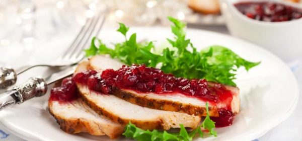 Balsamic Turkey Breast Recipe with Cranberry Sauce